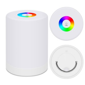 Rechargeable Smart LED Touch Control Night Light Induction Dimmer Intelligent Bedside Portable Lamp Dimmable RGB Color Change For Kids Gift