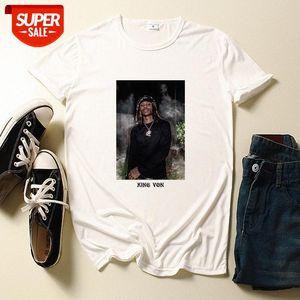 KING VON Rap Short Sleeve Men's and Women's T-shirt Loose Large Size #3k6Q