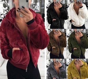 Fur Hoodies Designer Women's Top Winter Warm Fox Mink Long Sleeve Solid Rabbit Coat Hood Women Shirts