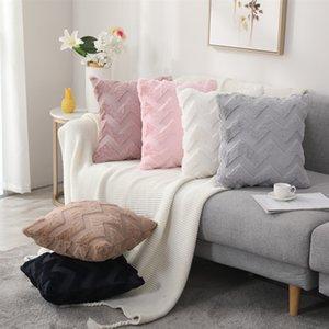 Luxury Cushion Cover Plush throw Pillow case Nordic Sofa Geometric Pattern Decoration Pillows Home Living Room Back Chair Decor 45x45cm