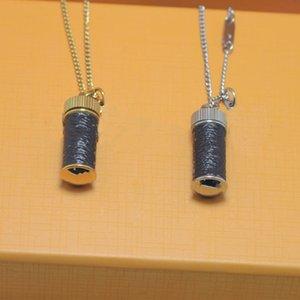 Meilleure vente de parfum Bouteille Collier Top Qualité Couple Collier 2 Couleur Golden Long Collier Fashion Bijoux Fournisseure Vente en gros
