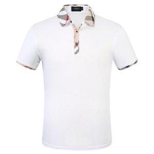 Мужская футболка бренда качества вышивания сращивание поло с коротким рукавов без рукавов вилка повседневная бизнес двойной Rolldown рубашка куртка