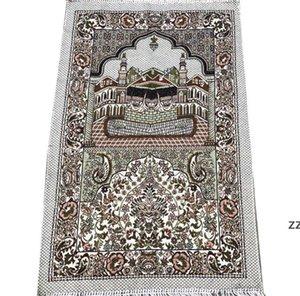 Islamic Muslim Prayer Mats Salat Musallah Prayers Rug Tapis Carpet Tapete Banheiro Islamic-Praying Mat 70*110cm SEAWAY HWF11015
