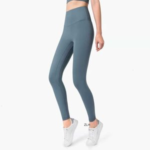 New 2020 Europe and America high waist anti flanging lu-20 Yoga Pants New no embarrassment one piece hip lifting peach pants960310 AWSX