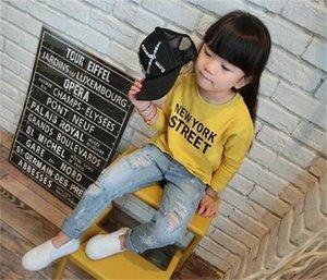 Children Broken Hole Jeans Spring Fashion Toddler Clothing Kids Ripped Denim Trousers Pants For Boys Girls 976 V2