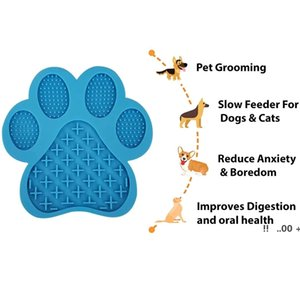 newDog Lick Mat Slow Feeder Bathing Distraction Pads with Suction Cup for Treats,Anxiety Relief,Grooming,Pet Training EWE5710