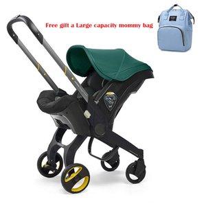 Kinderwagen 3 in 1 mit Autositz tragbarer Wagenfalte Pram Aluminiumrahmen Hohe Landschaft für geborene Kinderwagen #