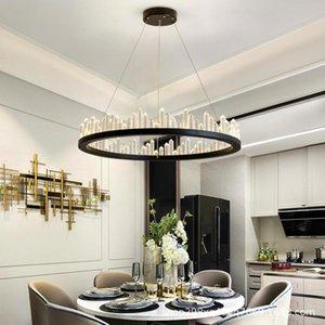 Chandeliers Chandelier For Living Room Bedroom Study Round Ceiling Crystal Lamp Modern Kitchen Loft LED Hanging