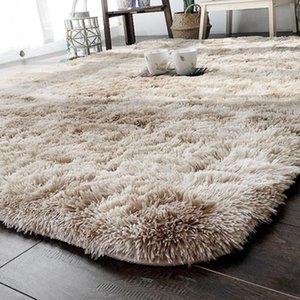 Carpets Polyester Fiber Fluffy Rugs Home Decoration Anti-Skid Sofa Floor Multicolored Shaggy Area Rug El Bedroom Mat Dining Room