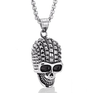 Men's Fashion Skull Head Pirate Hip Hop Stainless Pendant Titanium Steel Necklace