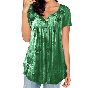 T Shirt loose solid color plus size summer short-sleeved T-shirt Ladies tops