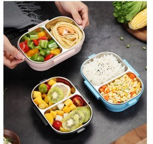 Good Quality Japanese Portable Lunch For Kids School 304 Stainless Steel Bento Kitchen Leak-proof Container Food Box fast ship LJCX