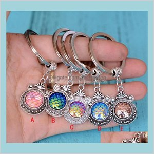 10 Colors Holographic Scales Keyring Fish Scale Keychain Est Car Accessories Jewelry Gift U Pick Color Trnl0 Key Rings Jbf82