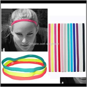 Headbands Candy Color Elastic Rope Sports Yoga Hair Bands Women Men Headwrap Running Football Prevent Slippery Headband Designer Gifts Jjhxu