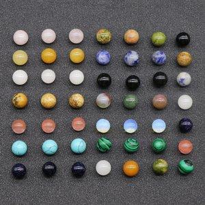 20 stücke lose Edelsteinperlen 8mm 10mm 12mm runde halb kostbare lose natürliche steinperlen quarz gemischt farben für schmuck machen 900 q2