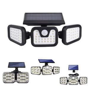 Solar Wall Lamp Motion Sensor Security LED Light Super Bright Adjustable 90° with 3 Modes for Garden Garage Porch Yard