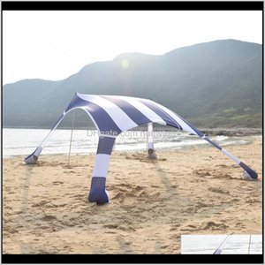 Tents And Shelters 210210160Cm Summer Tourist Sea Beach Tent Outdoor Awnings Tarp Canopy Sun Shade Shelter Parasol With Sand Bag 2 Alu Ugqa5