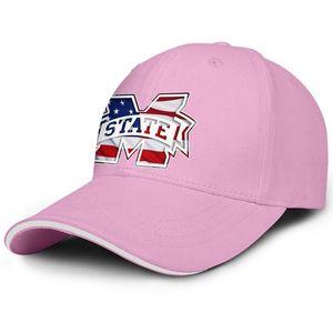 Unisex Mississippi State Bulldogs 3d Effect Flag Logo Fashion Baseball Sandwich Hat Sports team Truck driver Cap lack Camouflage White
