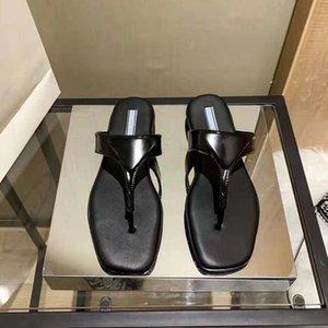 Slipper Designer Slide Sandals Sandalias Moda Playa Interior Flip Flops Cuero Lady Shoes Zapatos Damas Zapatillas con caja
