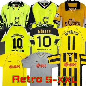 98 99 Retro 01 02 Borussia Dortmund Soccer Jerseys 2000 2002 الكلاسيكية خمر لكرة القدم قمصان الأموروسو روزيكي بوبيك كولر 95 96 97