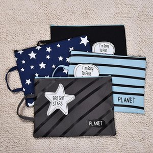 Business Card Files Cool Planet A4 Canvas Bag Zipper Fabric File Folder For Documents Stationery 33*25cm Portable Document Bags School Suppl