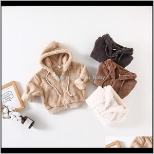 Winter Arrival Korean Style Cotton Pure Color Thickened Veet Hooded Coat For Fashion Cute Baby Girls And Boys Lj200826 Npoyb 85Xpj