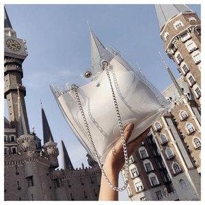 2020 brand Fashion luxury women's designer & Hot Design Jelly Shoulder Bag Clear Transparent Bucket PVC Tote Handbag for Women Bags