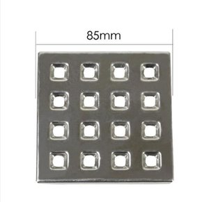 85mm 304 Stainless Steel Straight-out Outdoor Square Floor Drain, Public Toilet Garden Project Anti-cloggin Floor Drain Cover