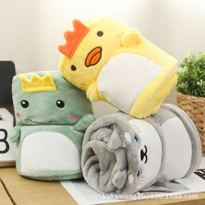 Nap INS Cover woolen Cute blanket Rabbit Woolen Blankets Cartoon Infant Swaddle Kids Stroller Car Seat Blanket