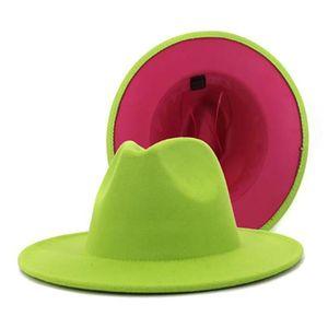 Klasik Yün Tarafından Keçe Fedoras Cap Fedex Kadın Erkek Şapka Geniş Ağız Derby Tonlu Caz Kilisesi Şapka Luned