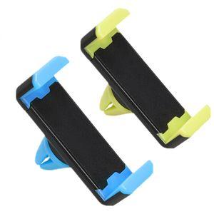Soportes de teléfonos celulares Montajes de ventilación de coche de plástico con traje de paquete al por menor para todos los teléfonos Android para iPhone