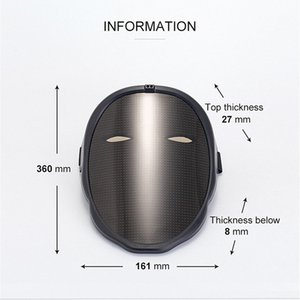 Original Shining Mask Bluetooth APP Change face Mask Programmable DIY Photo Full Color Animation Glowing LED Mask Display Board Party Christmas DJ Bar Child Gift