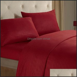 Sheets Bedding Supplies Textiles Home Gardensheets & Sets 12 Colors 4Pcs Bed Sheet Includes Flat Fitted Cases Polyester Fabric Drop Delivery