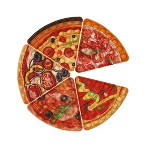 Pizza Fidget Decompression Toys Push It Bubble Sensory Autism Special Needs Stress Reliever Squeeze Toy for Kids Family