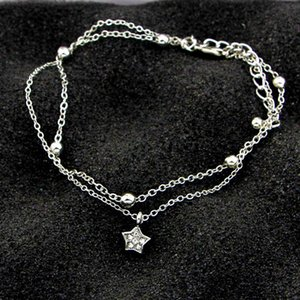 Anklets 2021 Summer Women Beach Simple Heart Ankle Layering Pendant Anklet Foot Jewelry On Bracelets For Leg Chain