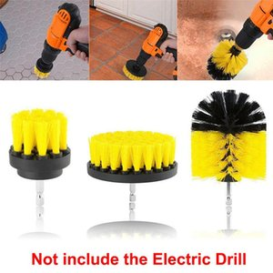 Drill Power Scrub Clean Brush Kit Round Cleaning For Leather Carpet Glass Car Tires Scrubber Brushes 2 3.5 4 Inch