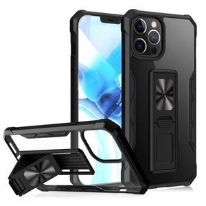 Shockproof Magnetic Kickstand Transparent Cases For iPhone 12 Pro Max 11 XR X Clear Hard Back Cover