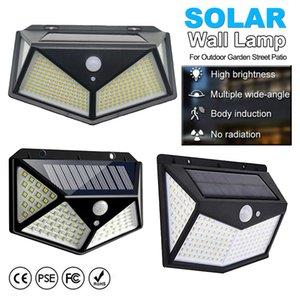 300 LED solar lâmpada de movimento lâmpada de parede à prova d 'água à prova d' água lanterna de segurança para o pátio da rua do jardim