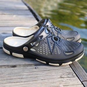 Couple Shoes Beach Casual Mens Slippers Unisex Hollow out Casual Couple Beach Non-slide Sandal Flip Flops Size 35-45 TX105