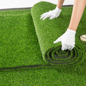 1.5cm Thickness Artificial Lawn Carpet Fake Turf Grass Mat Wreaths Landscape Pad DIY Craft Outdoor Garden Floor Decor