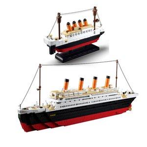 Sluban 1000+ PCS Blocs Modèle Building Britics Navire RMS Croisière Titanic Ensembles Créateur Kits d'experts Compossible City City Techenic