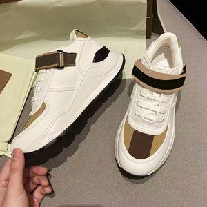 جديد رجل مصمم أحذية رياضية البيج خمر تحقق أحذية رياضية جلد الغزال منصة المدربين النساء ruinng أحذية أعلى جودة 35-45 NO281