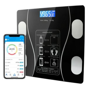 Smart Home Control Scale Weight Digital Wireless Analyze Body Fat BMI Bluetooth Weighing Glass Rechargeable Analyzer With Phone APP