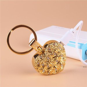 Home Smoking Accessories electronic cigarette lighters Creative love Keychain windproof USB charging lighter women gifts HWA4823