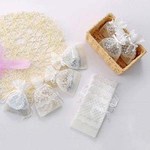 الدانتيل شبكة الرباط كيس الحقائب مجوهرات هدية عرض أكياس التعبئة القرط قلادة 10x14cm التفاف