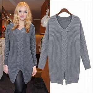 Gray Spring Autumn Brown Dress Women Plus Size Loose Fashion Casual High Quality Lady's Clothing Dresses