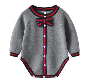 Bambini per bambini Abbigliamento Autunno Casual Grigio Grigio Grigio Casuiti Neonati Casuiti per bambini Ragazzi Ragazze Onesie Inverno Bambini Abiti