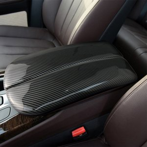 Car styling stickers For BMW X5 X6 X7 E70 E71 F15 F16 G05 G06 G07 Carbon fiber Stowing Tidying Armrest box protect covers Trim Auto Interior Accessories
