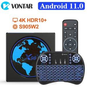 X98 mini Smart TV Box Android 11 4G 64GB Amlogic S905W2 X98mini AV1 Wifi BT H.265 Youtube Media Player 4GB32GB Set Top Box