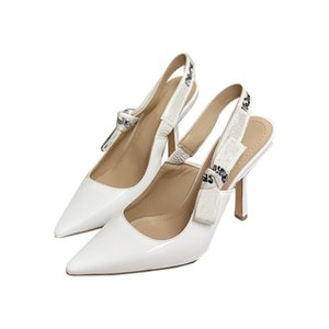 Fashion Haute Heeled Sandales Heel Véritable En Cuir Femme Chaussures avec Bow Parties Robe Chaussure Chaussure High-Heeled Back Strap Sexy Sandal Sandal Taille 34-40